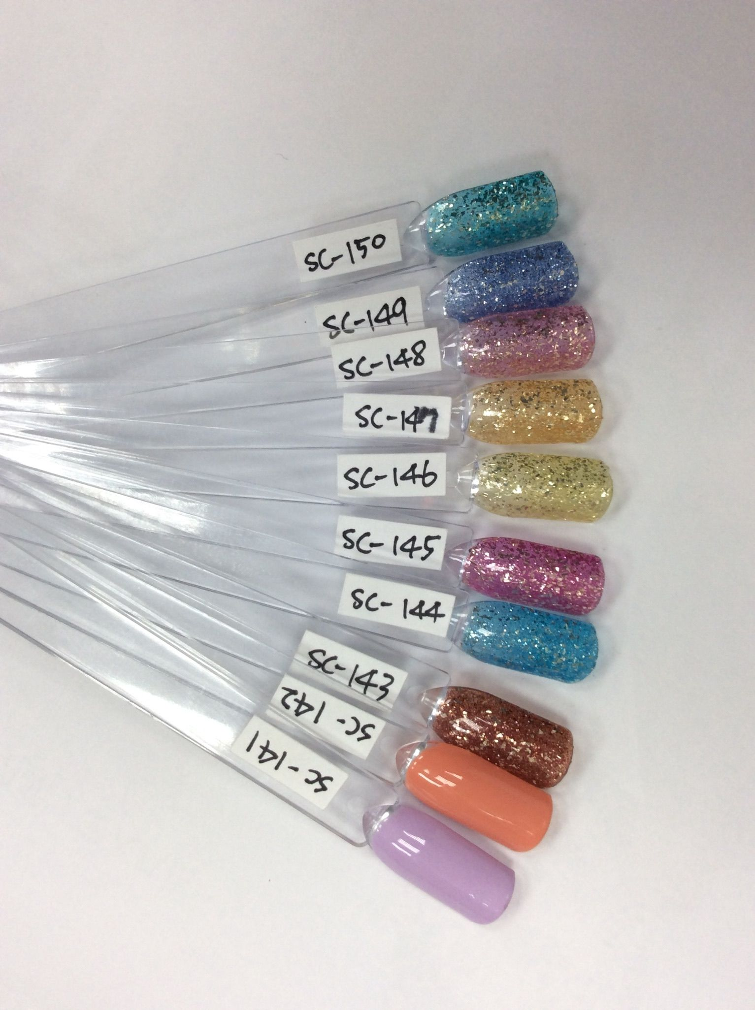 Presto Gel Swatches Gel Swatch Nail Colors