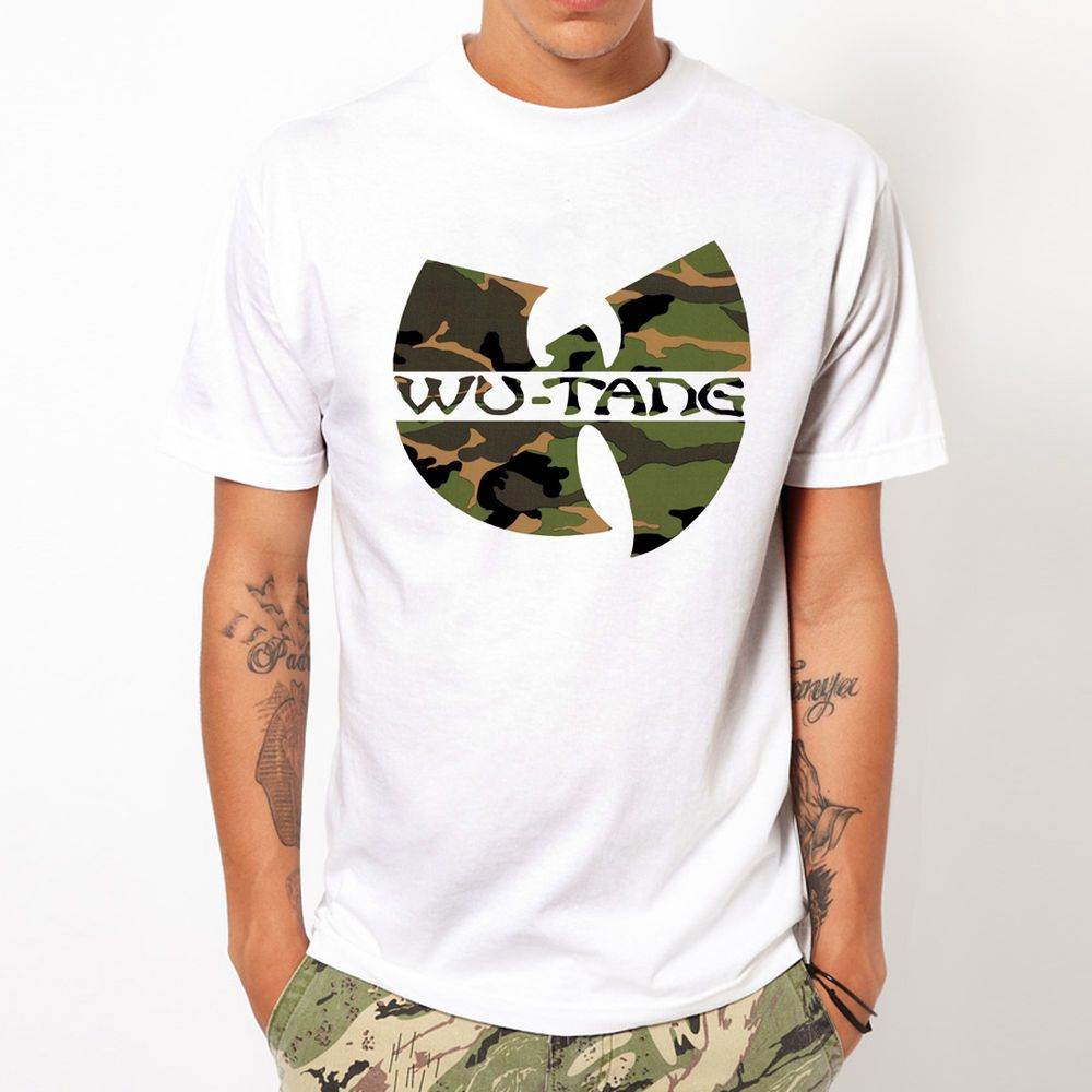 Wu Tang Clan Camo Soldier Camouflage Army Rap Hip Hop Military Men White T Shirt Other Basictee Mens Tshirts Wu Tang Clan Wu Tang