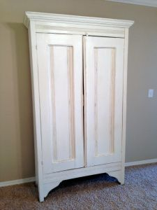 Antique Armoire Painted With Annie Sloan Chalk Paint In Old White