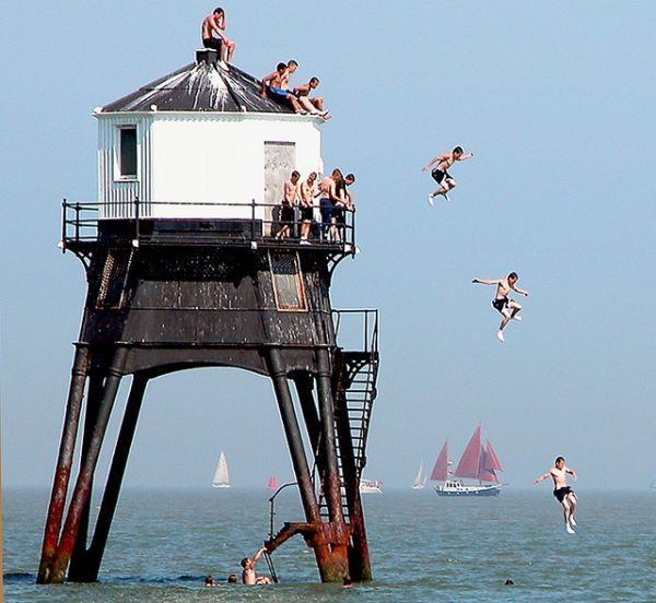 The Thrill Of Lighthouse Diving At Dovercourt In Essex