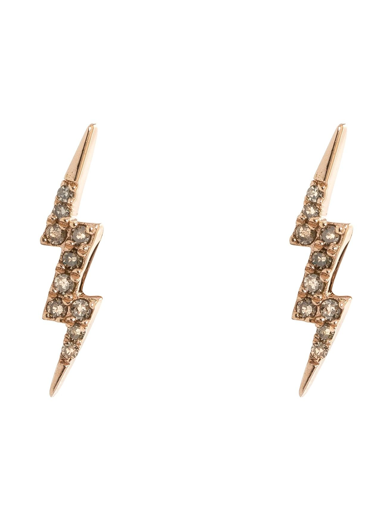 Lulu Designs 14k Bolt Stud Earrings These Fiery Studs By Feature A Playful Lightning Design And Sparkling White Diamonds For An Extra