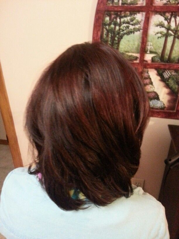 Fall Hair Dark Brown With A Red Tint Level 5 Brown And Level 4 Red