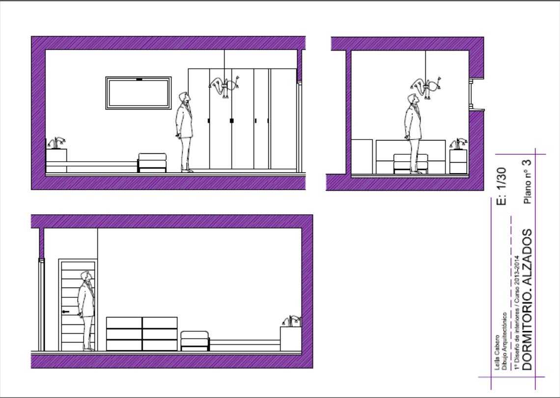 Planos De Alzado De Un Dormitorio Dise Ado Con Mobiliario Ikea