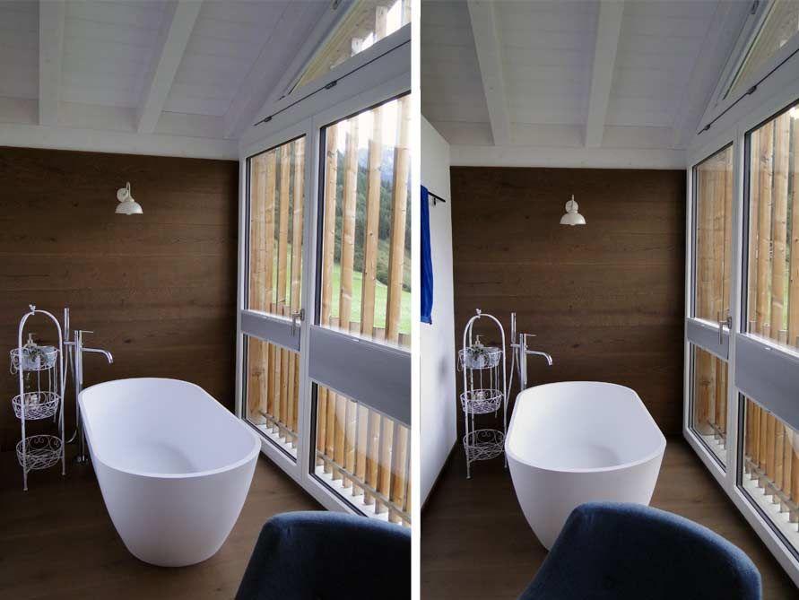 Freistehende Badewanne Montecristo aus Mineralguss - Weiß matt - ideen für badezimmer