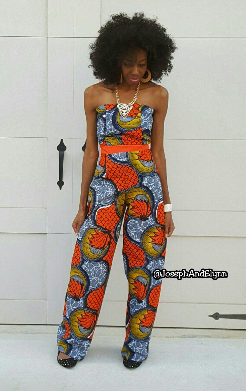Ankara African Print Pants Jumpsuit Www.JosephAndElynn.com | My Style | Pinterest | African ...