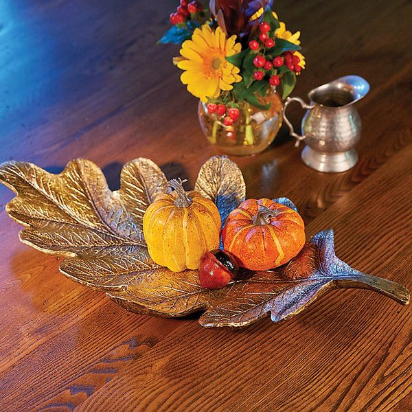 Decorative Leaf Bowl Interesting Improvements Gilded Autumn Leaf Bowl 7110 Crc ❤ Liked On Design Ideas