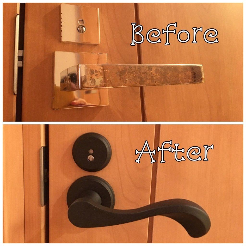 トイレのドアノブ 鍵付き を自分で交換 なぁんだ こんなに簡単に