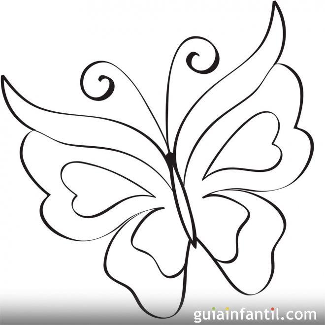 Mariposa para imprimir | Mariposas para colorear, Mariposas para ...