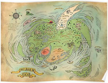 The Land of OOO World Map Adventure Time High Quality Poster ...