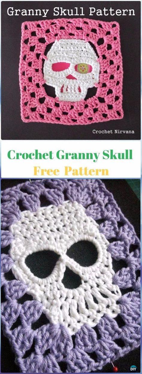Crochet Granny Skull Free Pattern - Crochet Skull Ideas Free ...