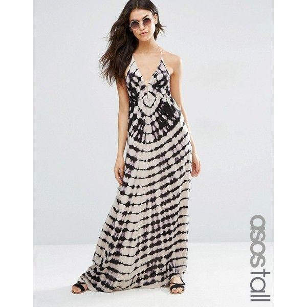 25++ Asos dark tie dye ruched tie halter beach maxi dress inspirations