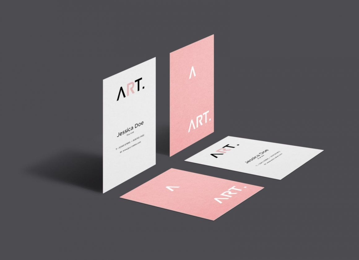 Free Vertical Perspective Business Card Mockup Psd Business Cards Mockup Psd Business Card Mock Up Free Business Card Mockup