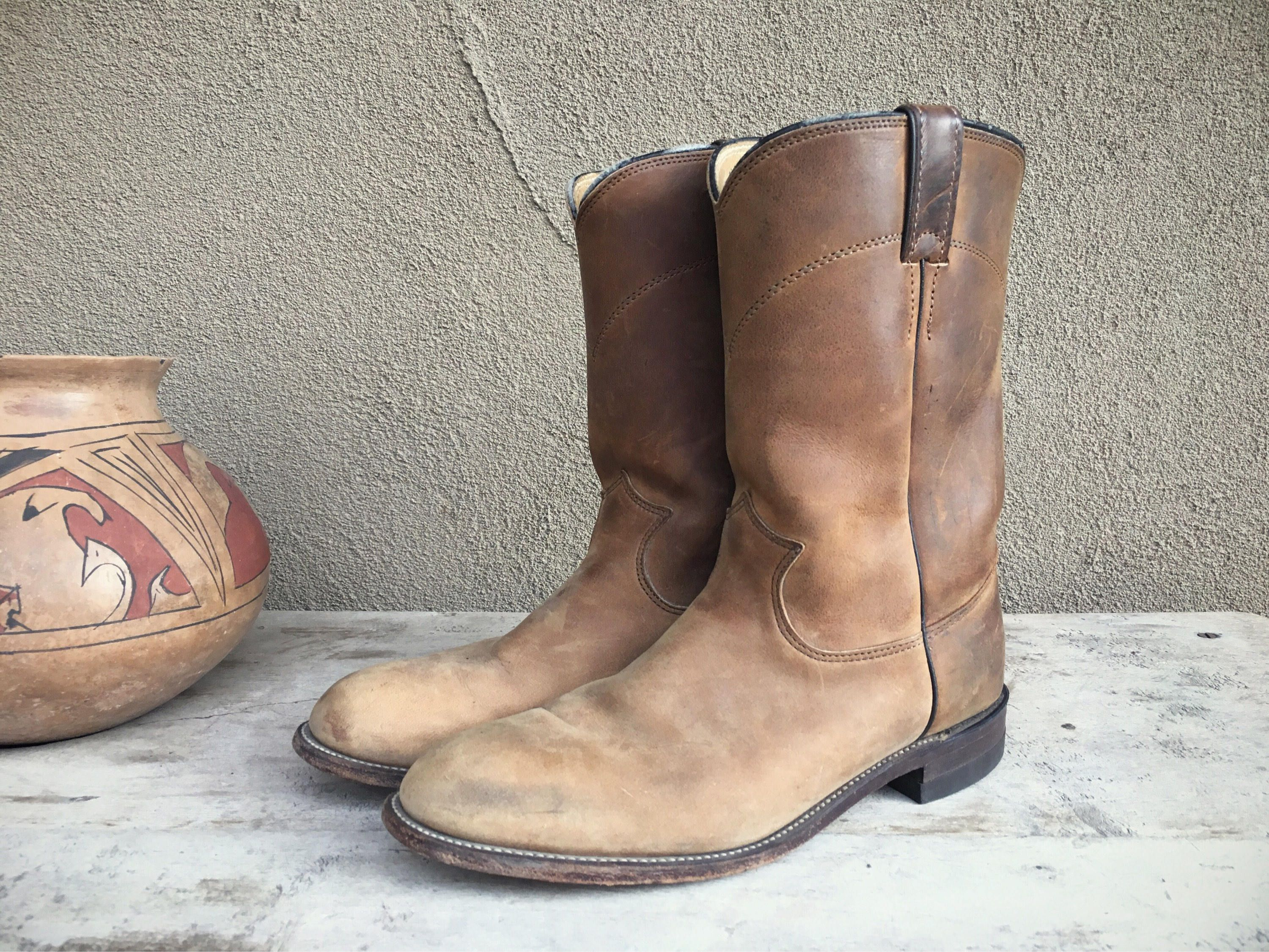 becc4f926946c The original round-toed Justin Ropers classic boot, these Made in U ...