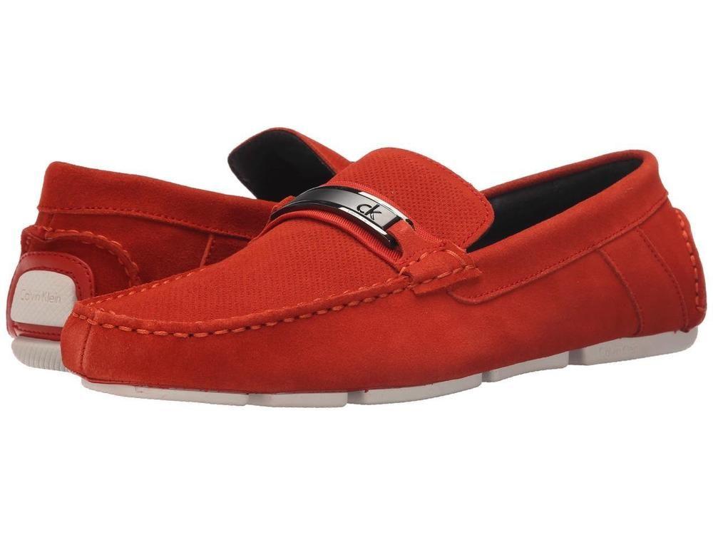 Calvin Klein Marcell Red Orange Suede