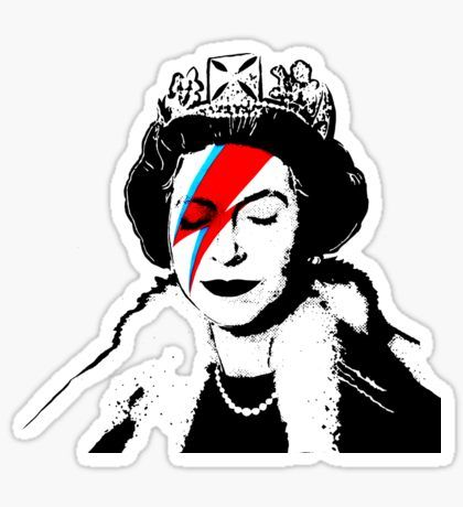 Ziggy stardust queen david bowie sticker