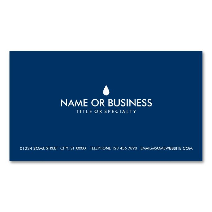 Simple water drop double sided standard business cards pack of 100 simple water drop double sided standard business cards pack of this great business card design is available for customization all text style colors colourmoves