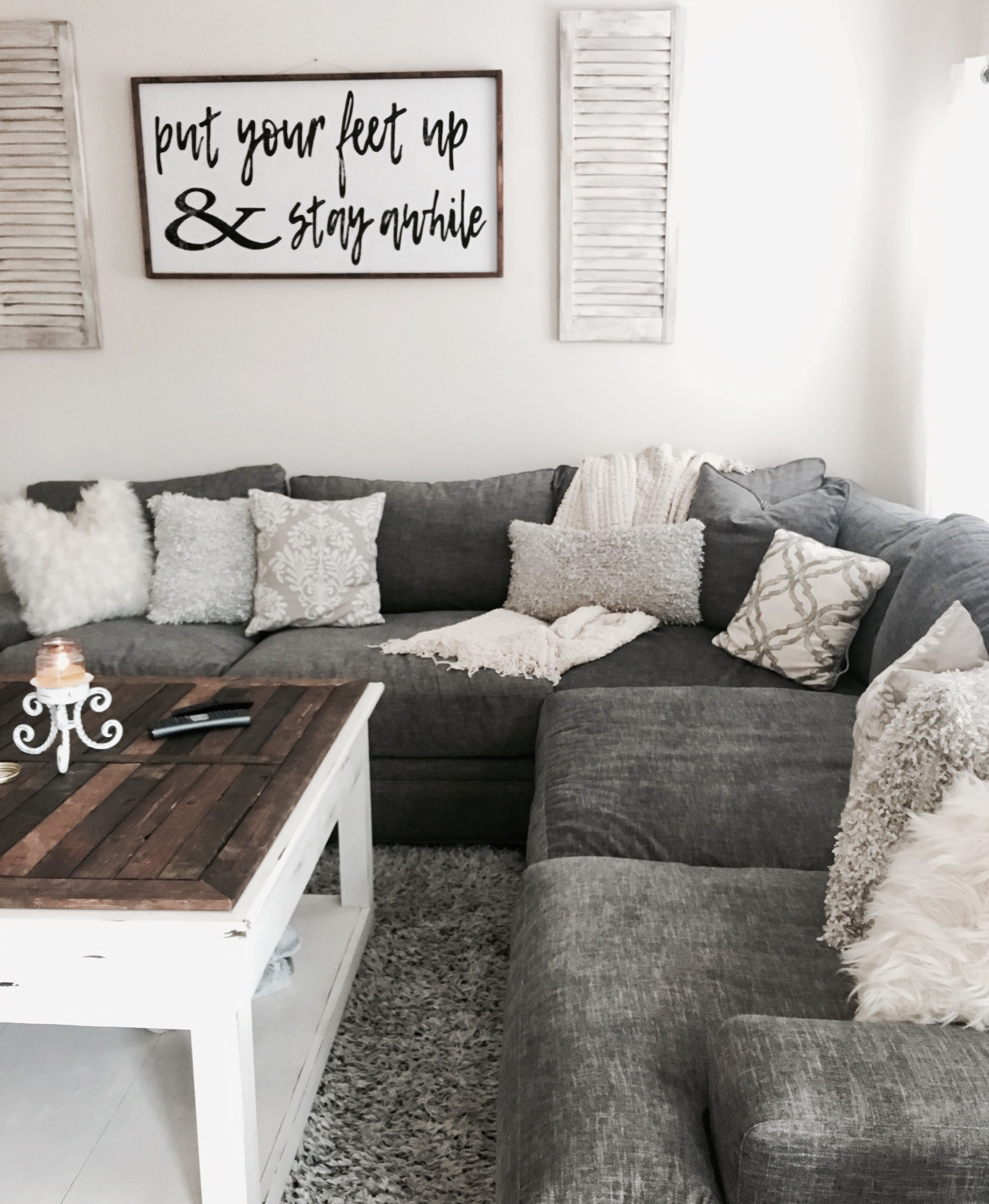 All Gray Everything Shabby Chic Decor Farmhouse Chic Living Room Farmhouse Chic Living Room Decor Couches Living Room