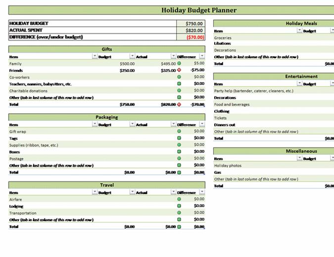 budgeting planner