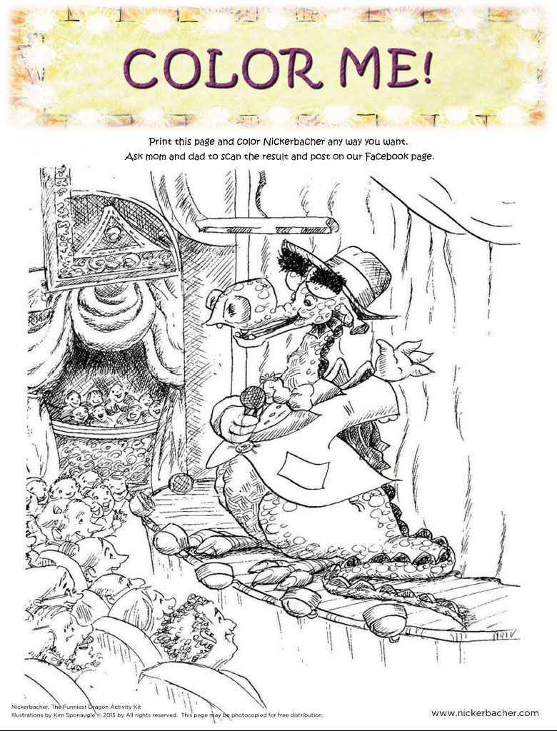 Nickerbacher Coloring Page Printable | Living At The Whitehead\'s Zoo ...