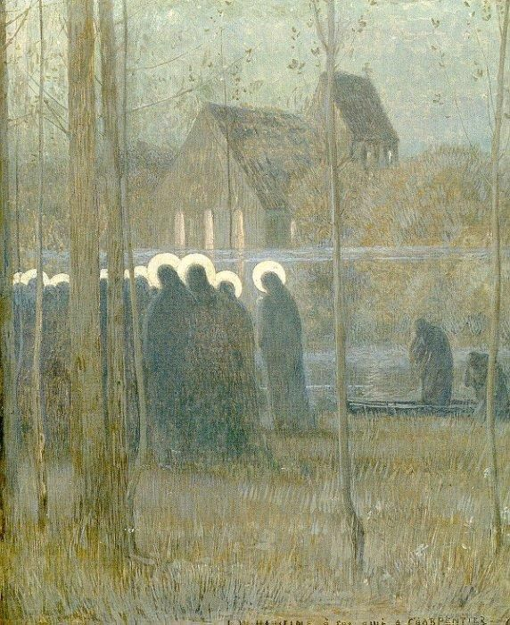 Procession of Souls painted by Louis Welden Hawkins, 1893