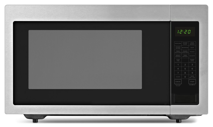 Amana Countertop Microwave Black On Stainless With 2 2 Cu Ft