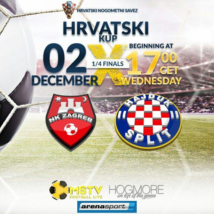 Nk Zagreb Vs Hnk Hajduk Croatian Football Cup 1 4 Finals Live Mstv Hogmore Hzv Nkzagreb Hajduk Footballlive Nogome Arena Sport Football Cups Football