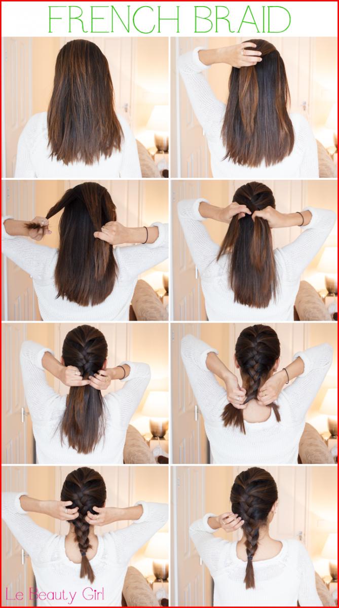 French Braid Hairstyles Tutorial Hair Styles Long Hair Styles Medium Short Hair