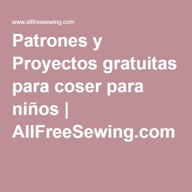 Patrones y Proyectos gratuitas para coser para niños | AllFreeSewing.com