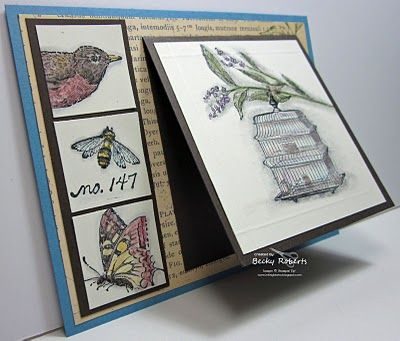 I like this layout. I can see it with photobooth-style photos on the side as a birth announcement or holiday card. #stampinup