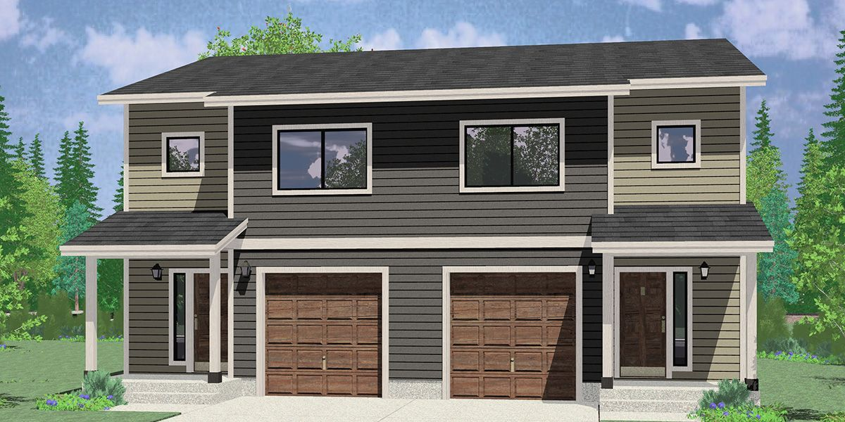 Plan 55167br 2 Bed Home Great For Zero Lot Line Plots Small Floor Plans House Plans Floor Plans