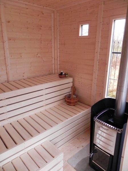 Sauna Poele Electrique sauna cube en Épicéa de scandinavie, 12 m2, poêle électrique