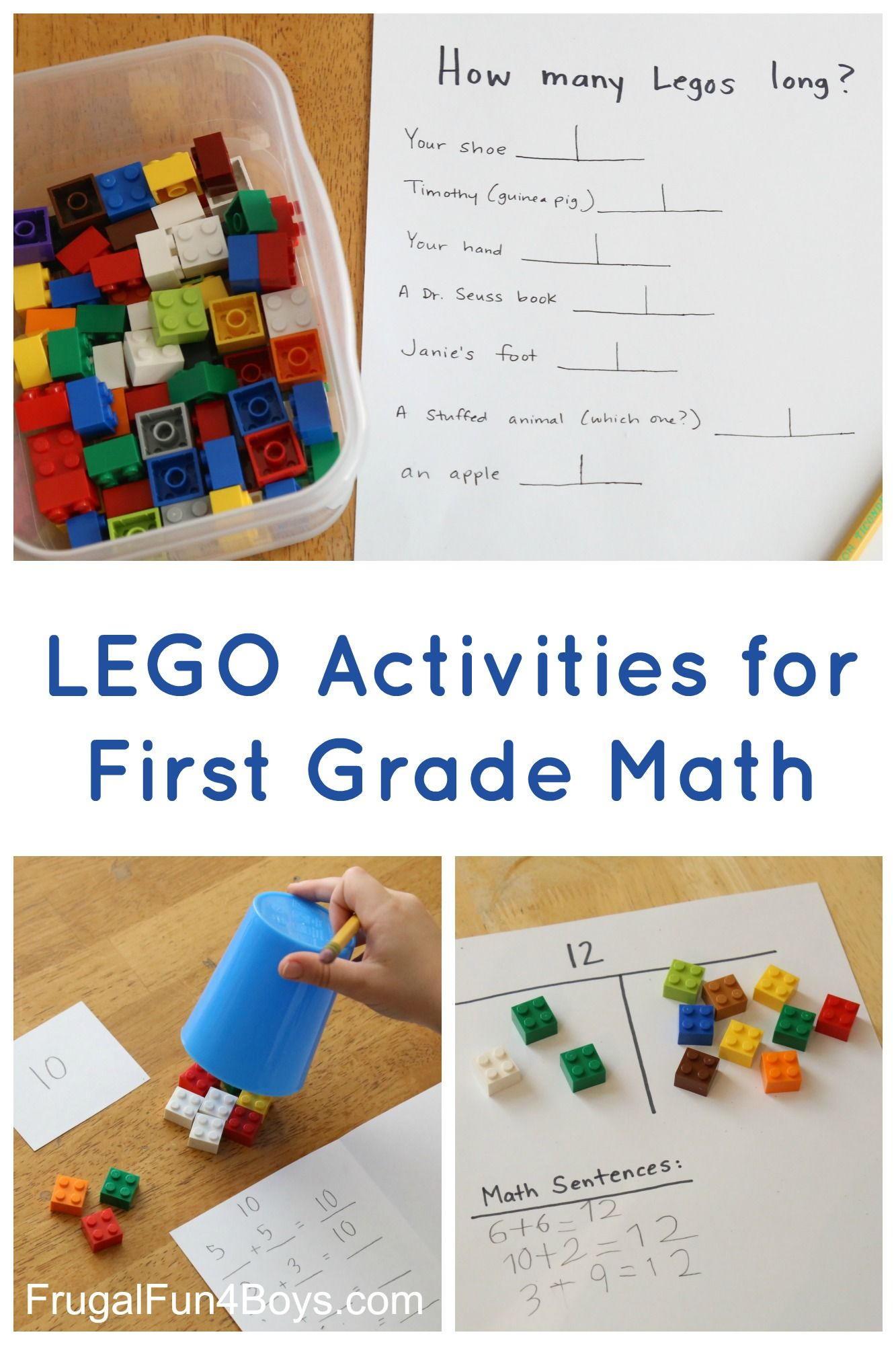 Lego Activities For First Grade Math