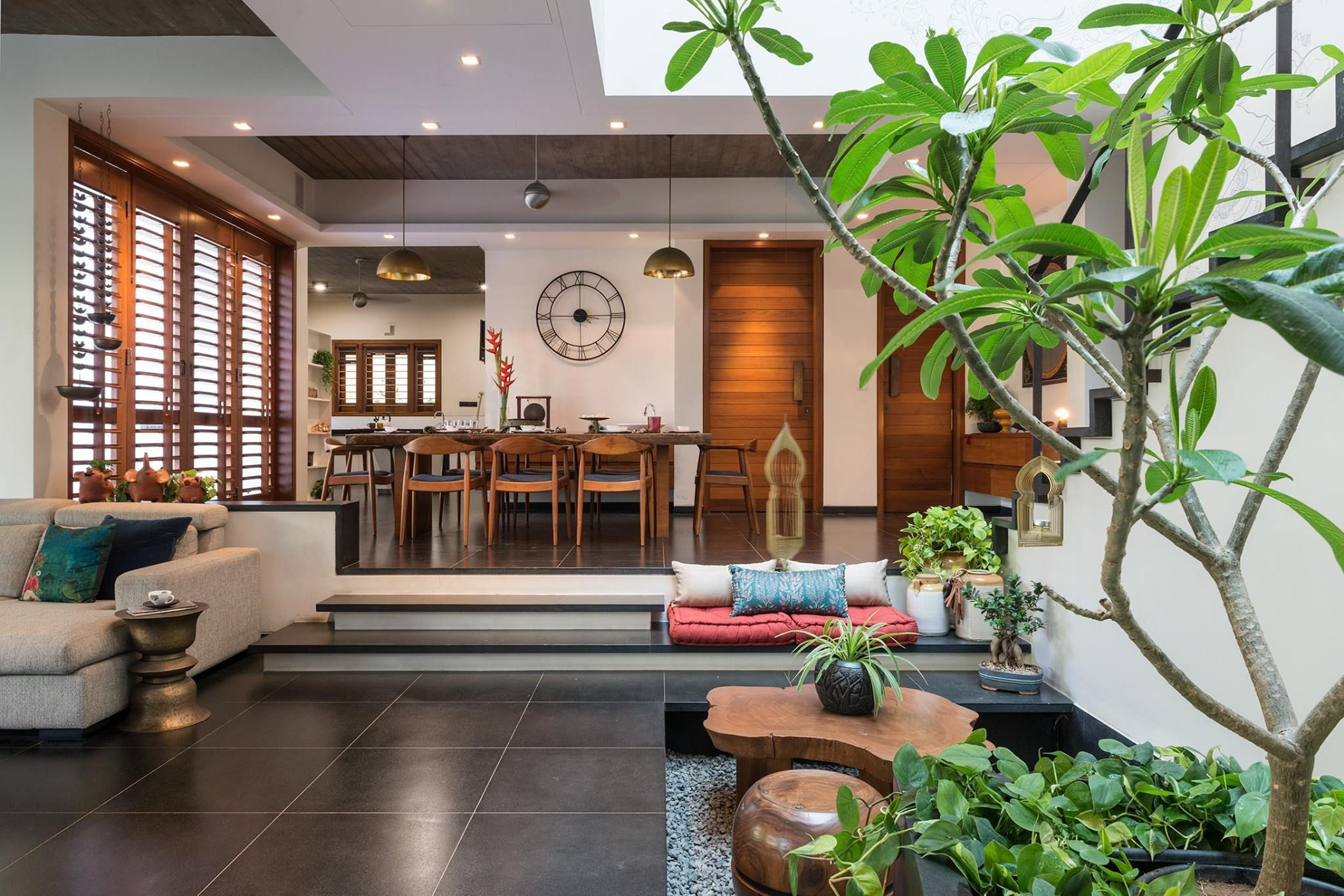 Top 10 Courtyard House In India | Indian home interior ...