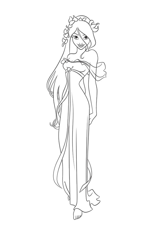 Giselle Wearing Beautiful Dress In Enchanted Coloring Pages Bulk Color Coloring Pages Disney Coloring Pages Fairy Coloring Pages