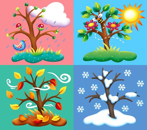 4 seasons clipart google search arbolados pinterest clip art rh pinterest com seasons clipart png clipart seasons of the year
