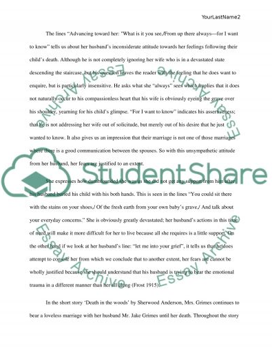 Intimidated Wives In Literature Assignment Example Essay Examples Essay Sample Resume