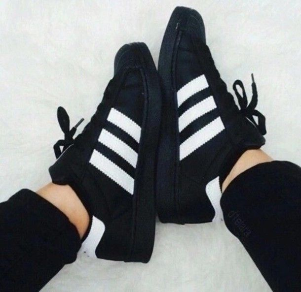 Find this Pin and more on General. black and white adidas shoes totally in  ...