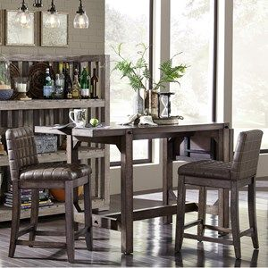 Broyhill Furniture Bedford Avenue 3 Piece Counter Height Table And Magnificent Casual Dining Room Tables Design Ideas