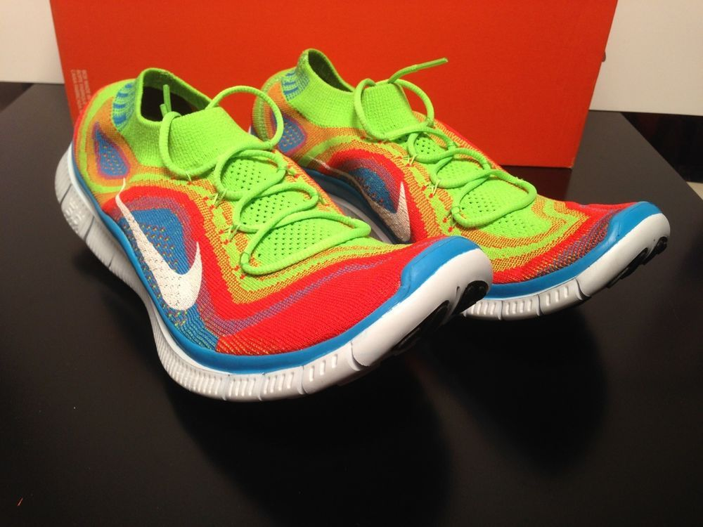 nike free flyknit 5 0 running shoes mens 11 615805 316 rainbow new rh pinterest com