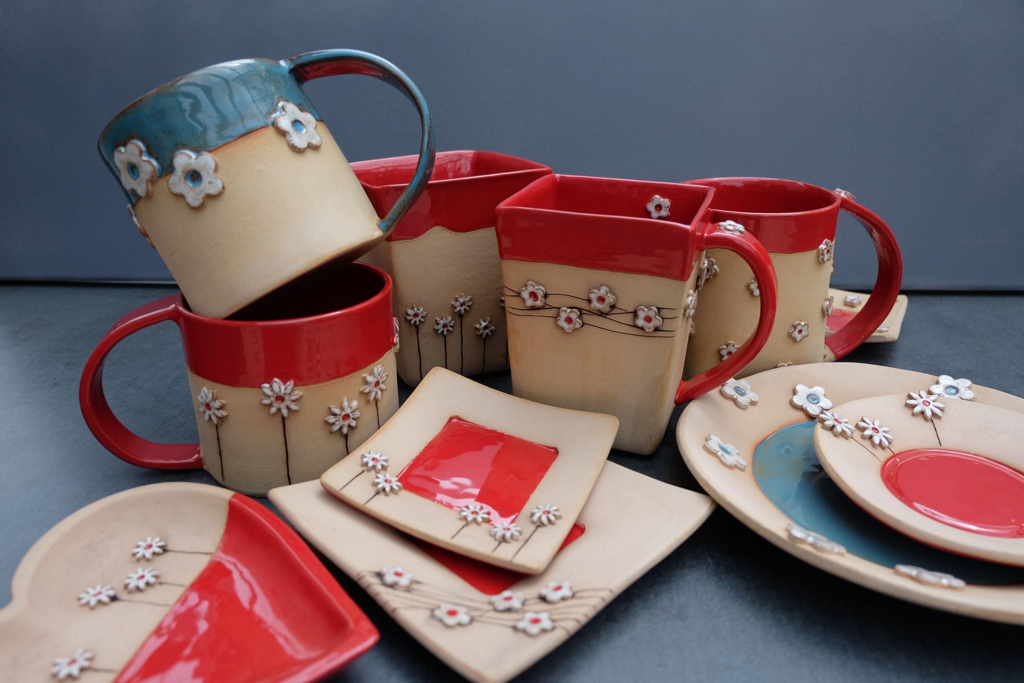 Tassen Keramik Geschirr Handgefertigt Jedes Teil Ein Unikat Individuelle Geschenkidee Keramik Keramik Geschirr Tassen