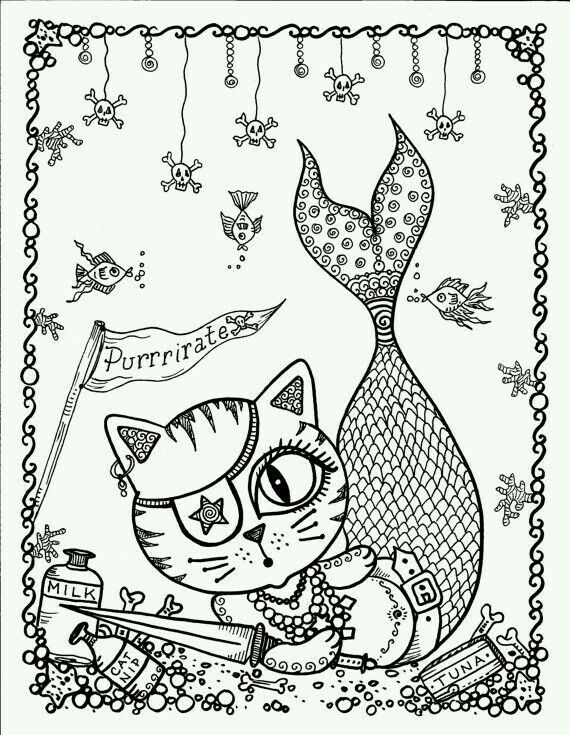 Catfish Mermaid Coloring Pages Coloring Books Coloring Pages