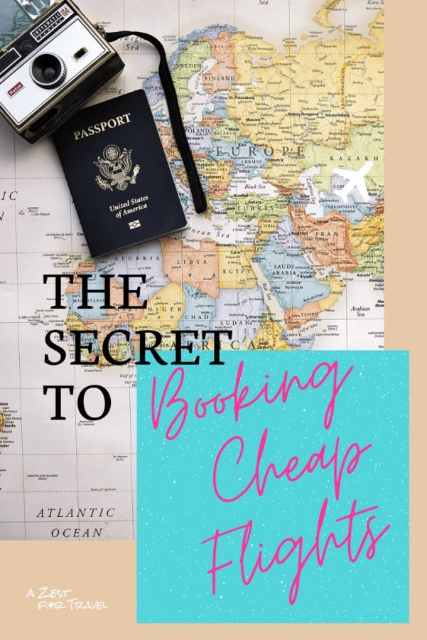 10 Secrets To Booking Cheap Flights | Don't spend more than you need to when travelling by plane. Find out all the best tricks and hacks for booking the cheapest possible flights! | A Zest For Travel | #cheaptravel #cheapflights #traveltips
