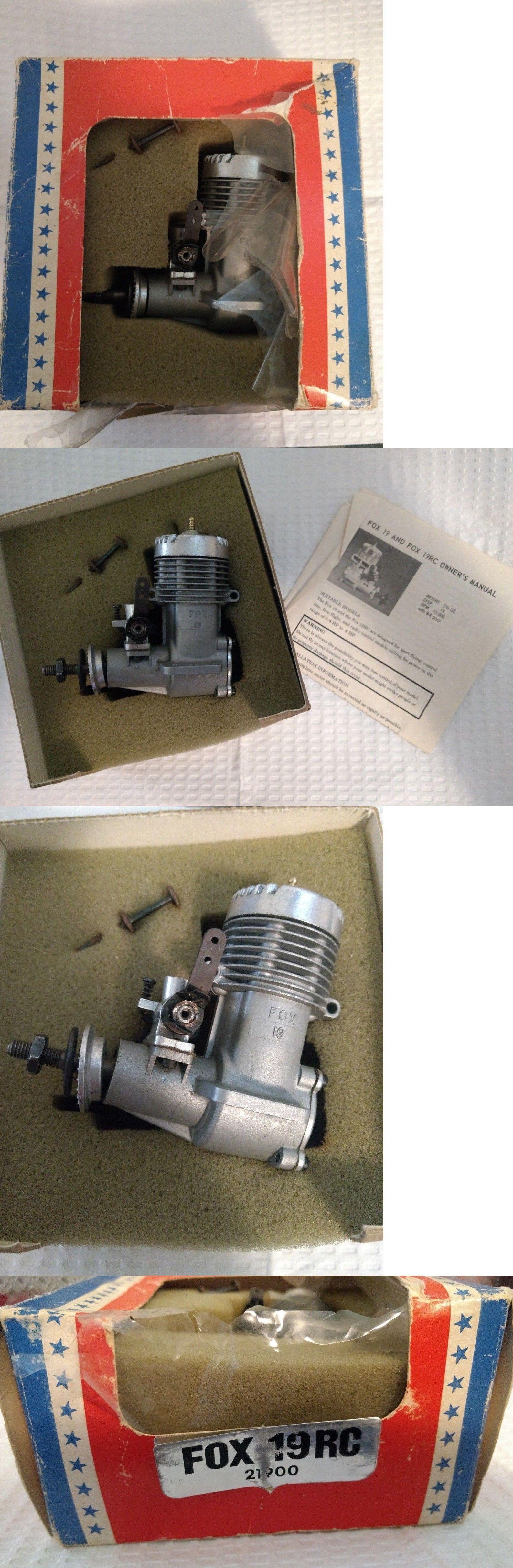 Gas Nitro Engines 182189: Fox 19 Rc Model Airplane Engine