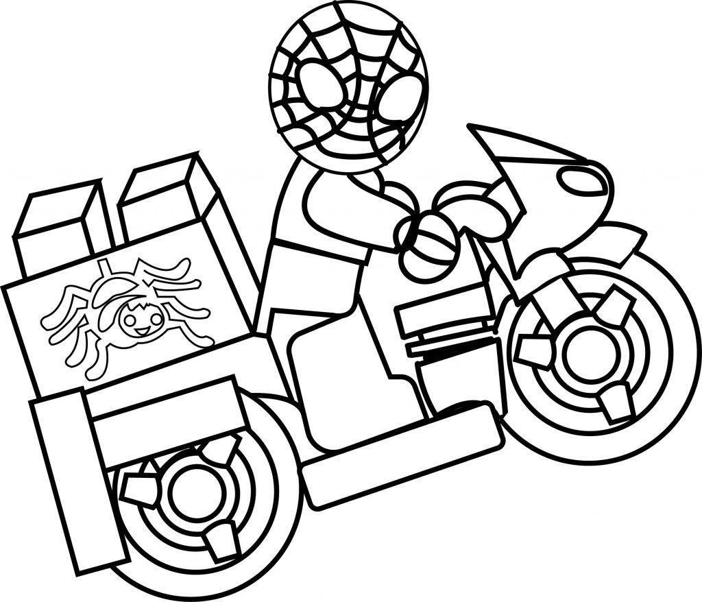 Lego Spiderman Coloring Pages With Images