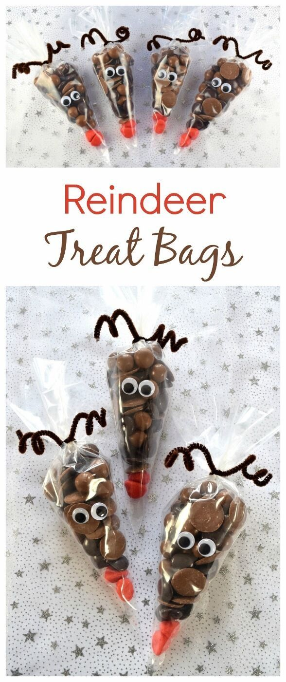 Reindeer Treat Bags - a quick and easy fun homemade gift idea kids ...