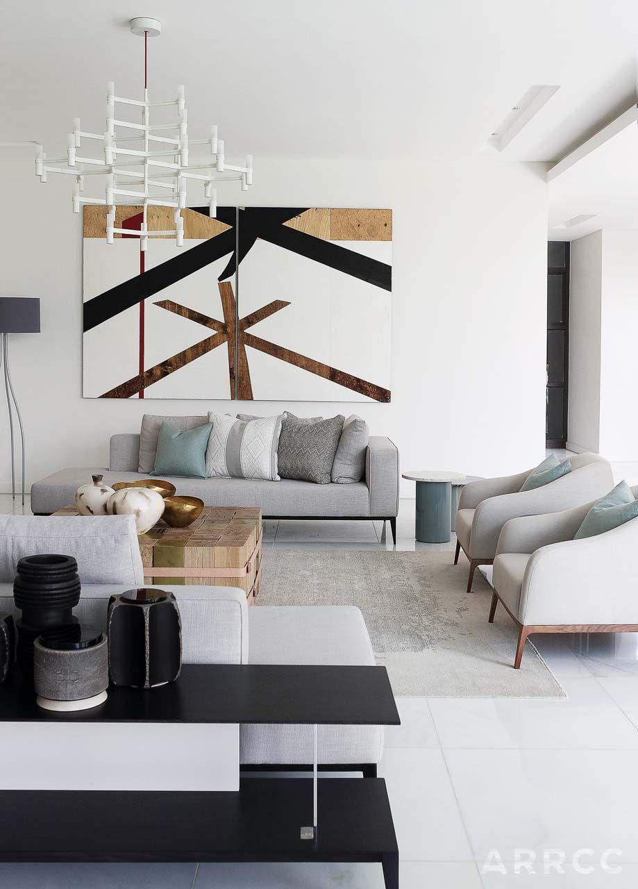 Luxury Showcase For Living Room Royal Art Deco: Sleek Modern Home In South Africa Designed To Showcase Art