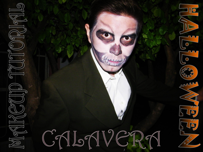 SKULL MAKEUP TUTORIAL for MEN (Halloween)°|°Maquillaje Calavera ...