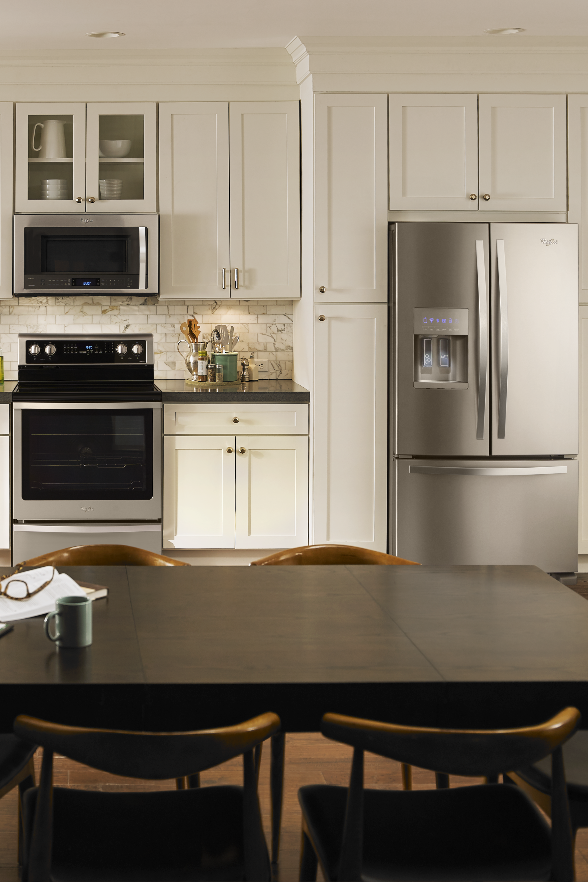 Sleek stainless steel appliances without smudges and