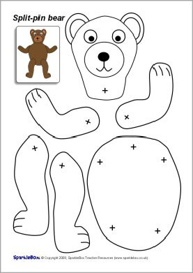 Split Pin Bear Character Sb2043 Sparklebox Bears