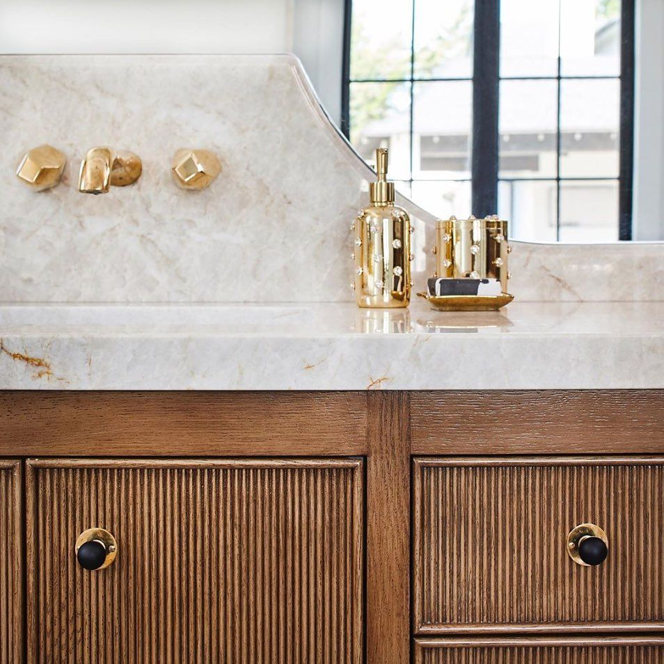 Waterworks On Instagram Whatever Bath Style Isla Brings The Glamour Design Baileyaustindesign Pho In 2020 Beautiful Bathrooms Waterworks Bathroom Beautiful Homes